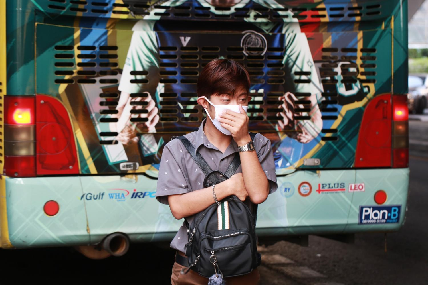 More and more people in Bangkok are forced to wear face masks due to the rising levels of PM2.5 particulate matter in the air, caused by emissions.