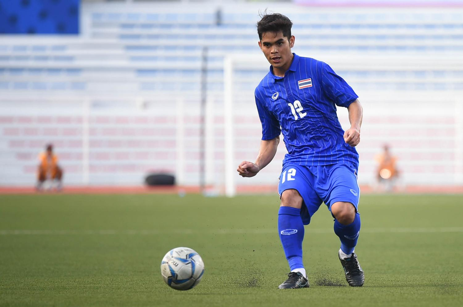 Thailand's Sarayut Sompim in action during the match against Brunei at the SEA Games in the Philippines.