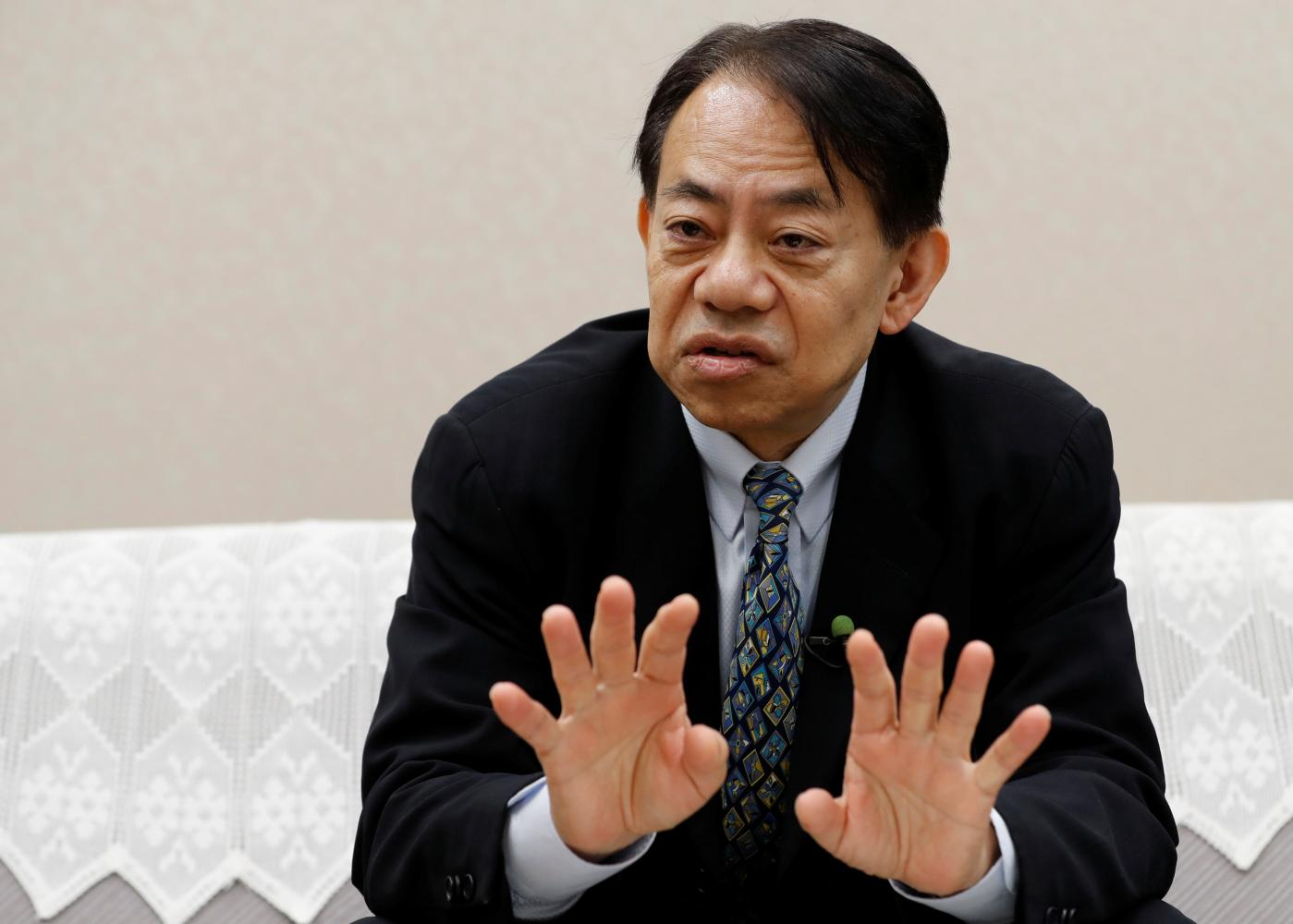 Asian Development Bank president-elect Masatsugu Asakawa speaks during an interview with Reuters in Tokyo. (Reuters photo)