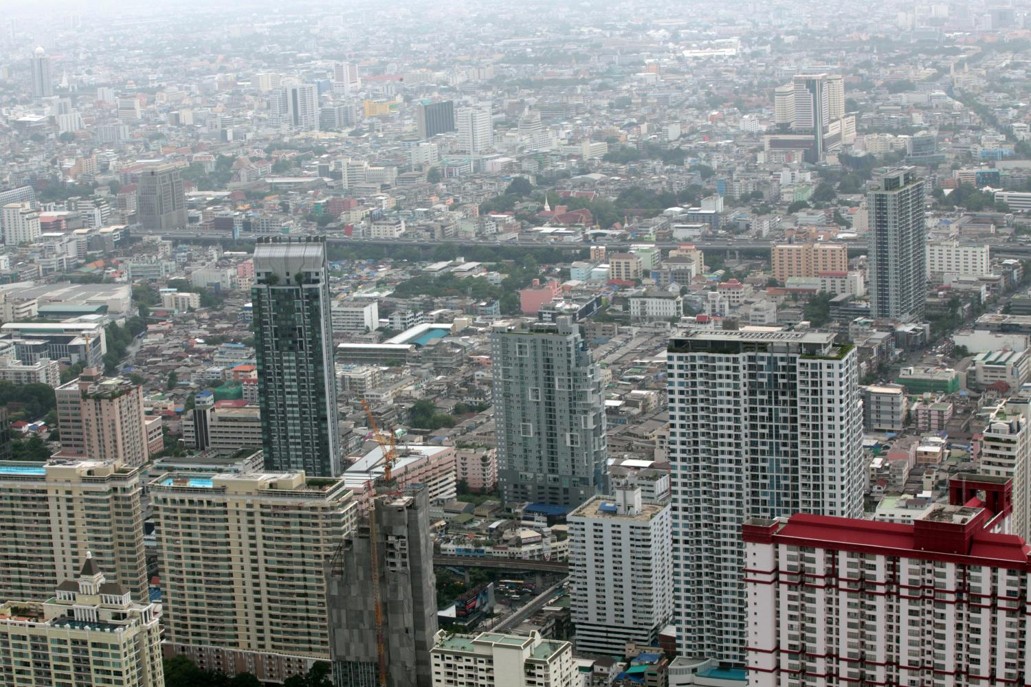 A view of Bangkok high-rises from Baiyoke Tower II. The city fared well on getting settled (32nd) in the expat survey.(Photo by Weerawong Wongpreedee)