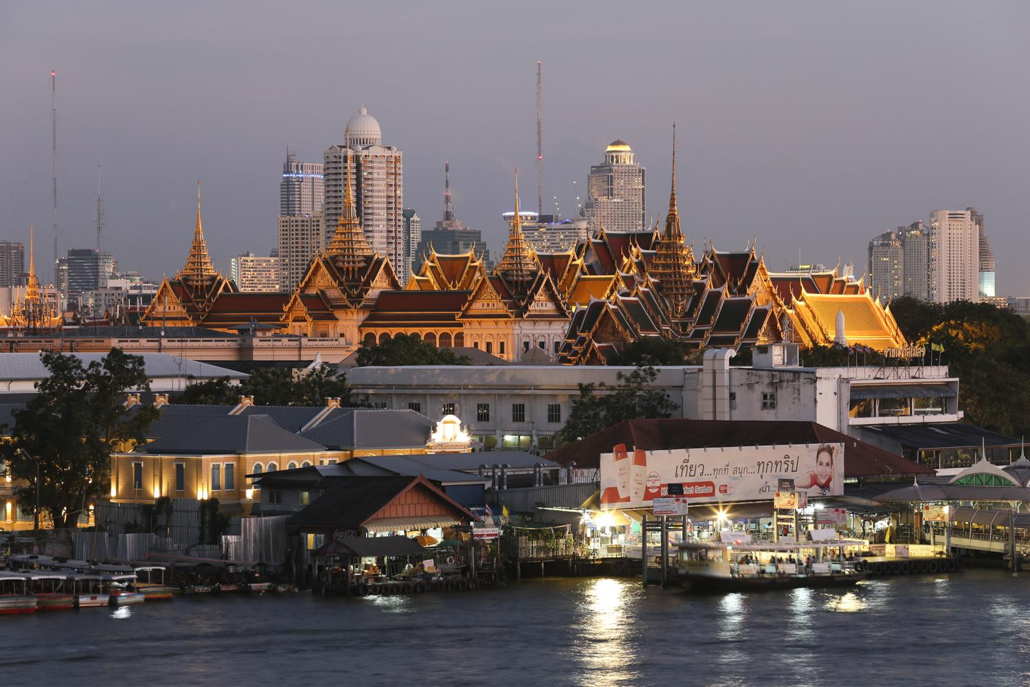 Majestic palace: A view of the two-century-old Grand Palace and its surrounding neighbourhood. Bangkok was honoured as a Creative City under the Design category in Unesco's Creative Cities Network on Oct 30.