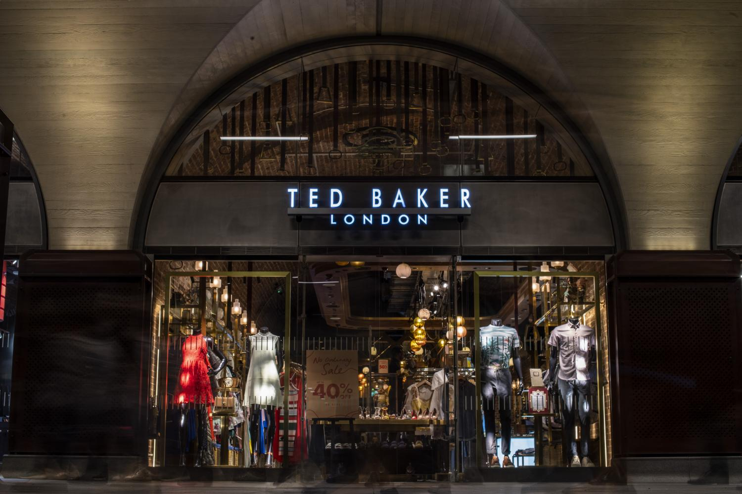 A Ted Baker shop stands in a concourse at London Bridge railway station in London.  (Bloomberg photo)
