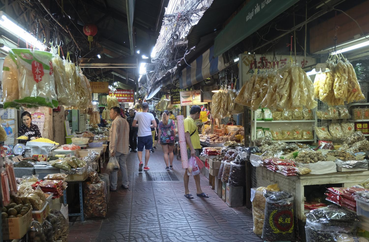 Slowdown: Even though the government has tried to stimulate spending, business in Bangkok's Chinatown remains tepid.