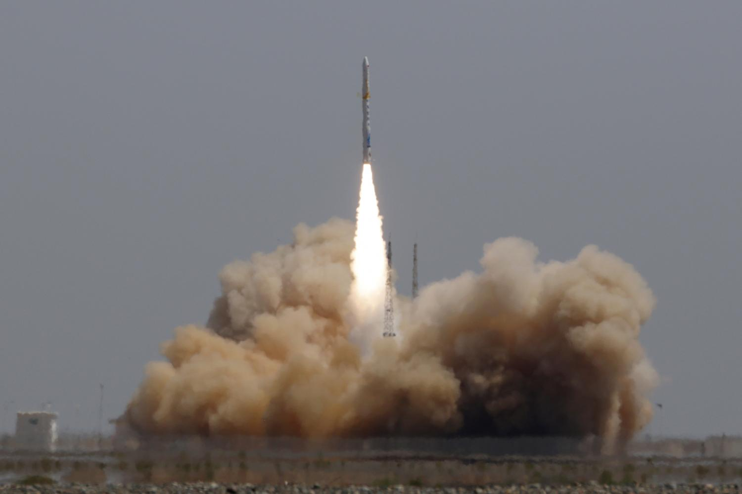 A Hyperbola-1 rocket developed by the Chinese company i-Space takes off from the Jiuquan Satellite Launch Centre in Gansu in July last year. Photo: China Stringer Network via Reuters