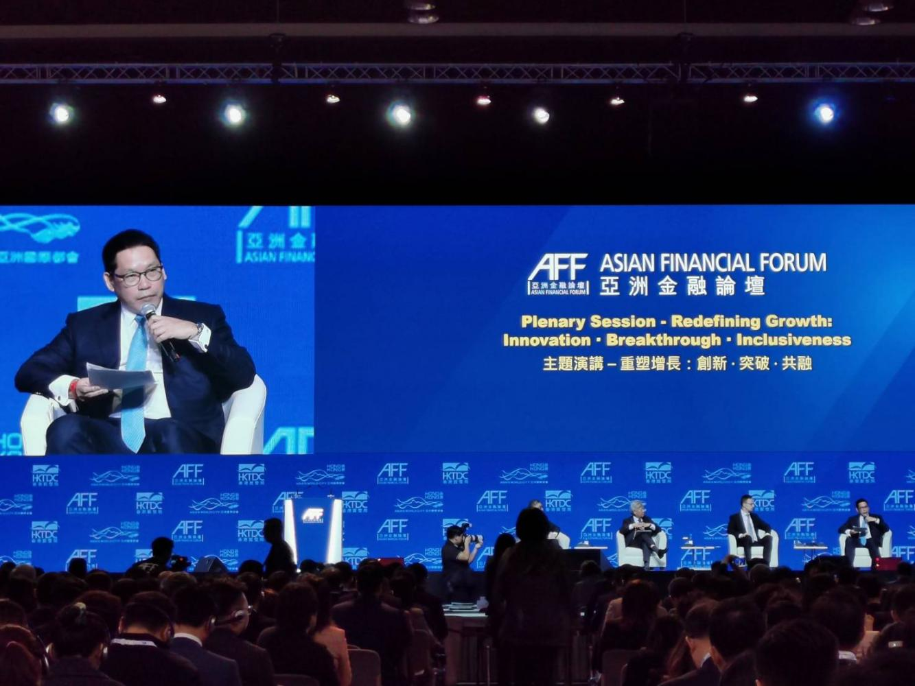 Mr Uttama gave the keynote speech at the Asian Financial Forum, which ends today. Wichit Chantanusornsiri