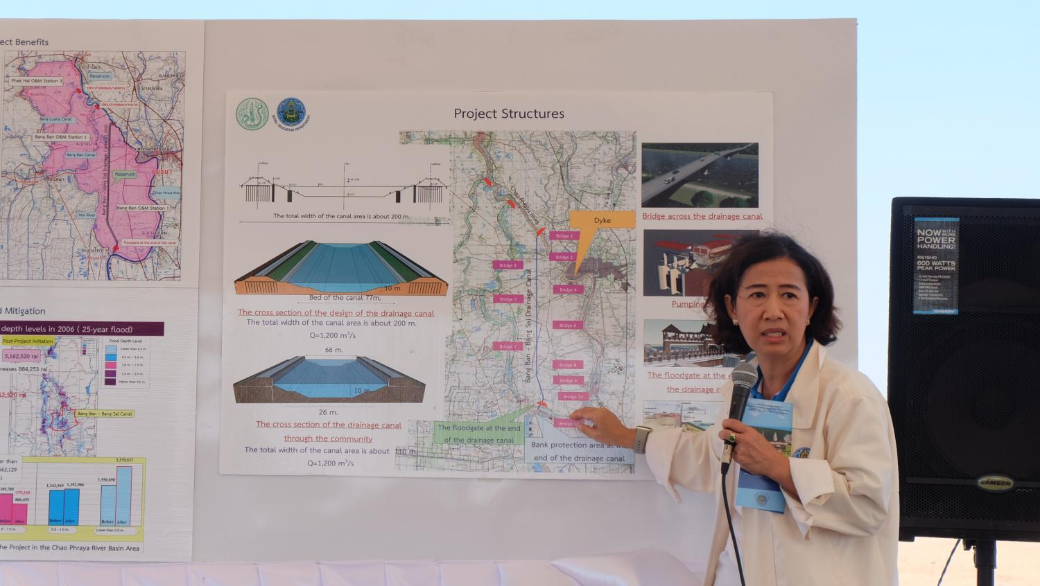 Textbook example: Phattaporn Mekpruksawong, an expert in civil engineering at the RID, says a new diversion canal will help mitigate recurrent flooding in Ayutthaya.