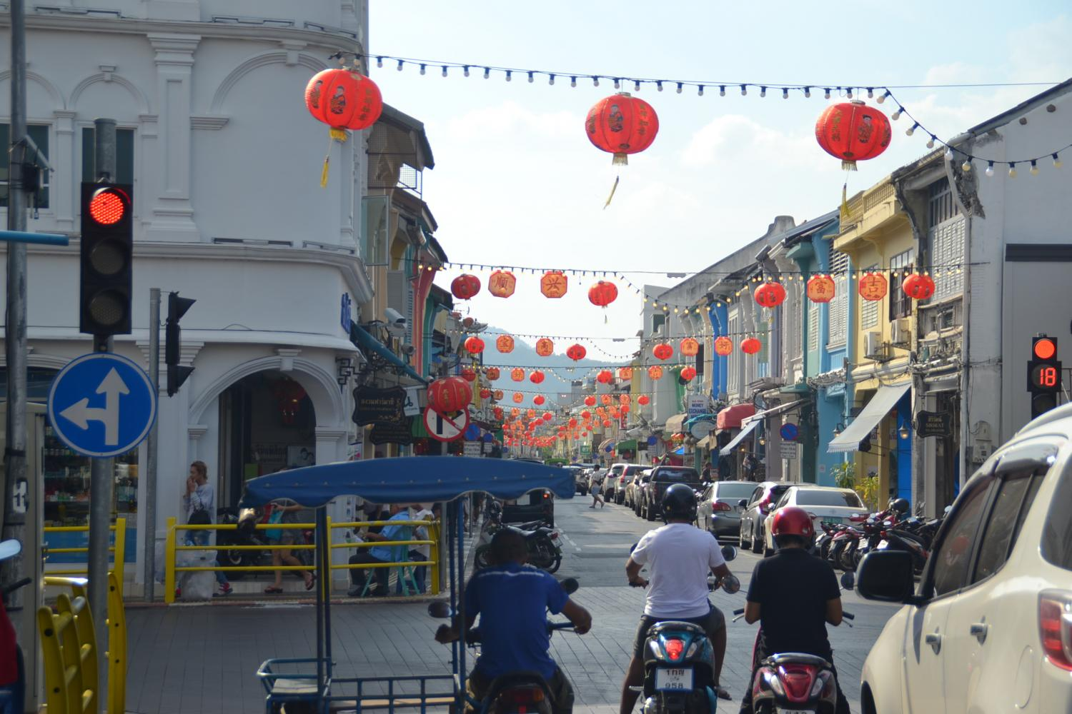 Lanterns decorate Phuket during Chinese New Year as the southern province welcomes an uptick in tourist arrivals from China. Achadtaya Chuenniran