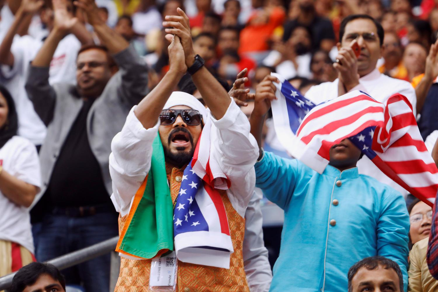 Supporters react during a 'Howdy, Modi' rally celebrating Indian Prime Minister Narendra Modi at NRG Stadium in Houston, Texas last September. REUTERS