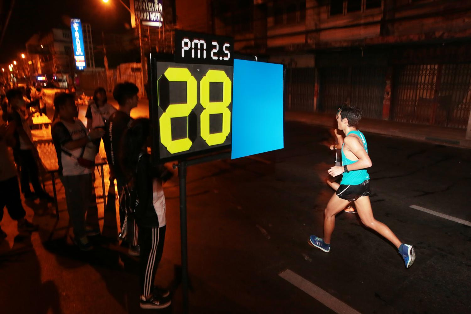 The 2020 edition of the Amazing Thailand Marathon in Bangkok risks being cancelled as the TAT closely monitors levels of PM2.5 dust in the capital. Chanat Katanyu