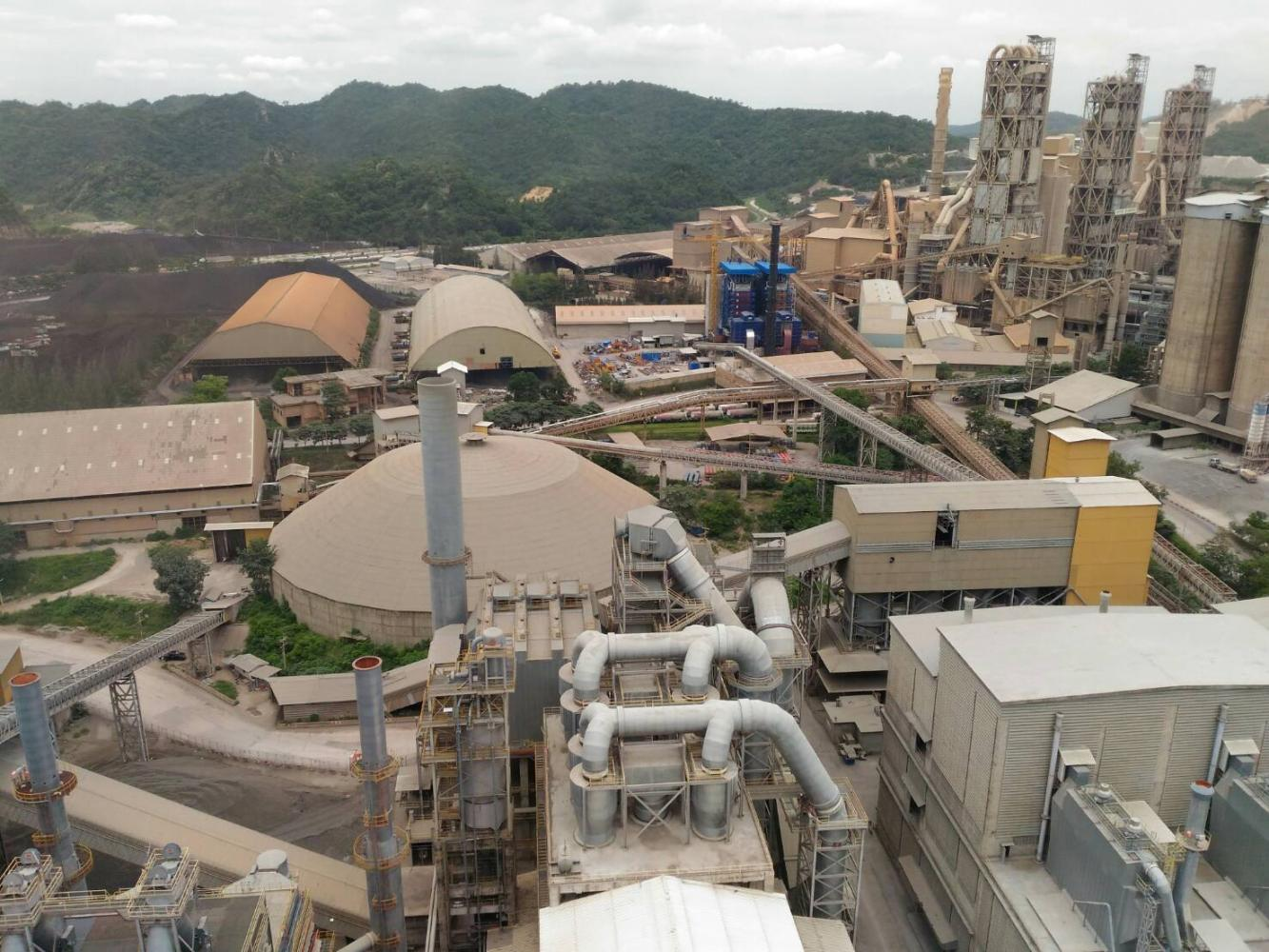 An aerial view of TPIPP's power plant in Saraburi province. The company is looking to acquire existing waste-to-energy projects.