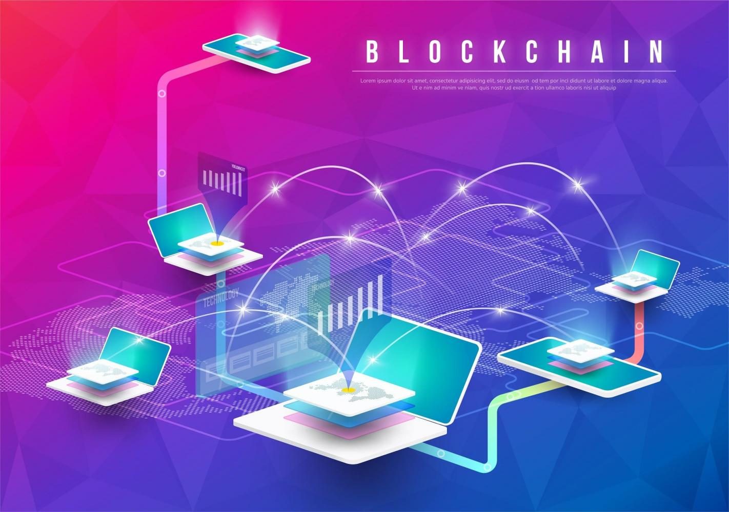 An illustration of blockchain technology, which has shown promise in helping online users better protect their data.