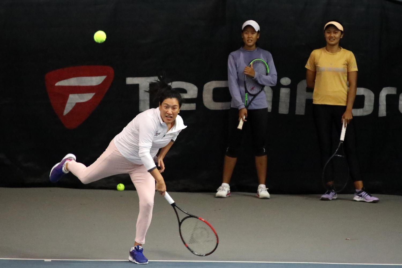 Thailand's Tamarine Tanasugarn practises in New Zealand on Wednesday.