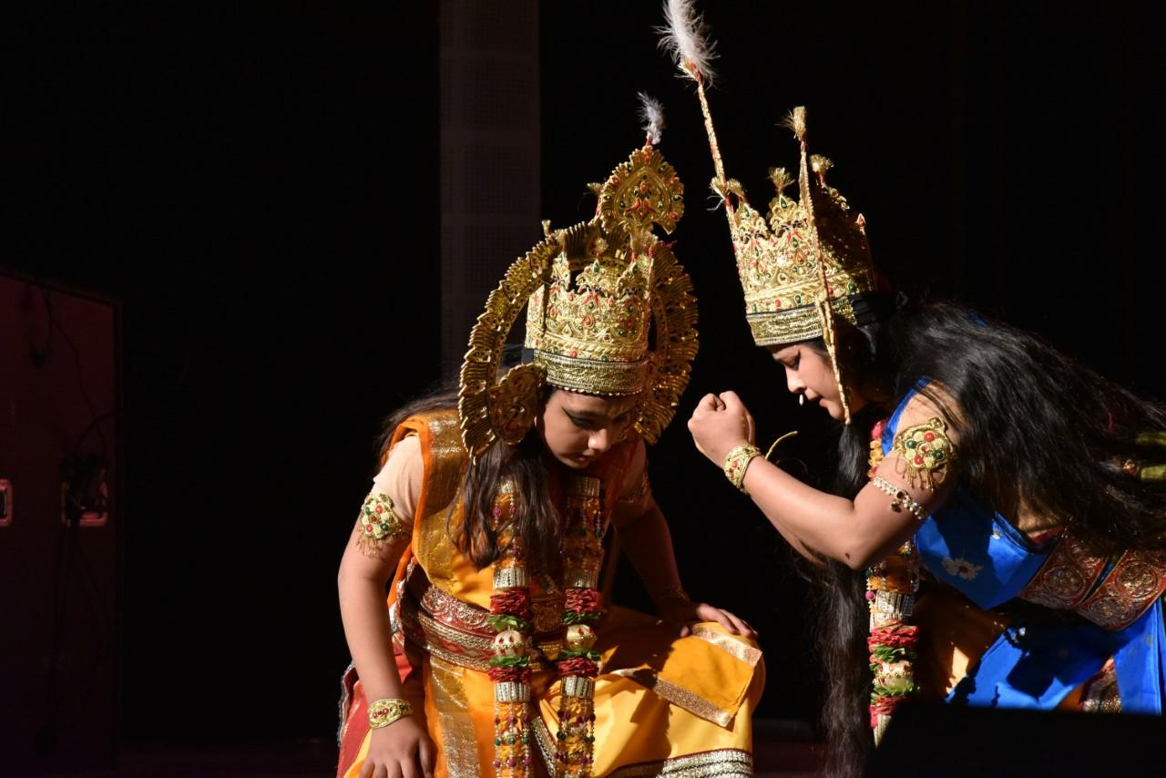 Performers enact a scene from the Ramayana at the World Ramayana Conference in Jabalpur, India. SUPPLIED