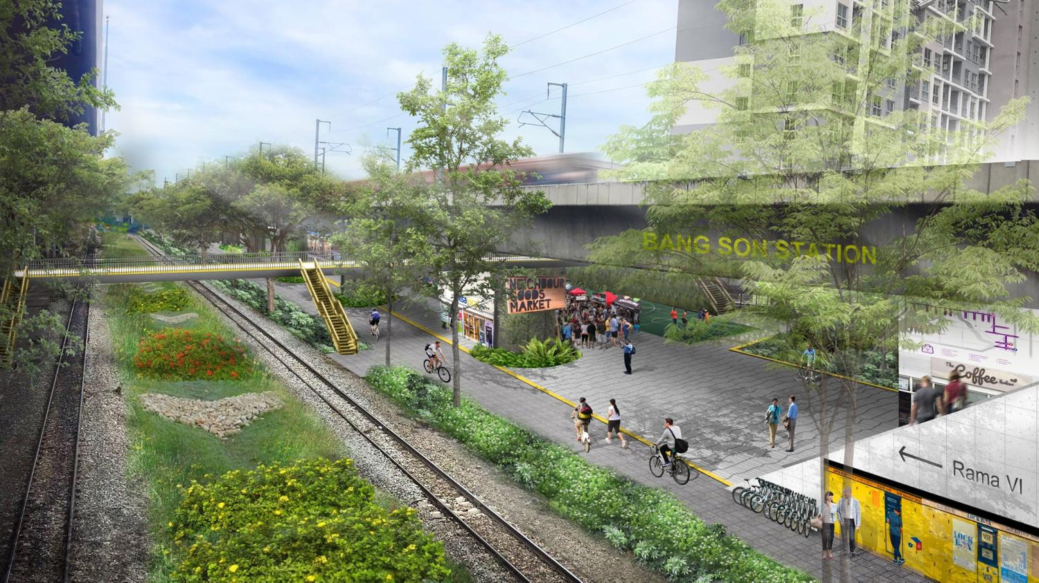 Green dream: The Bangkok Green Link aims to develop unused public land, such as vacant space under expressways and alongside railway lines, to create bicycle routes and civic space.