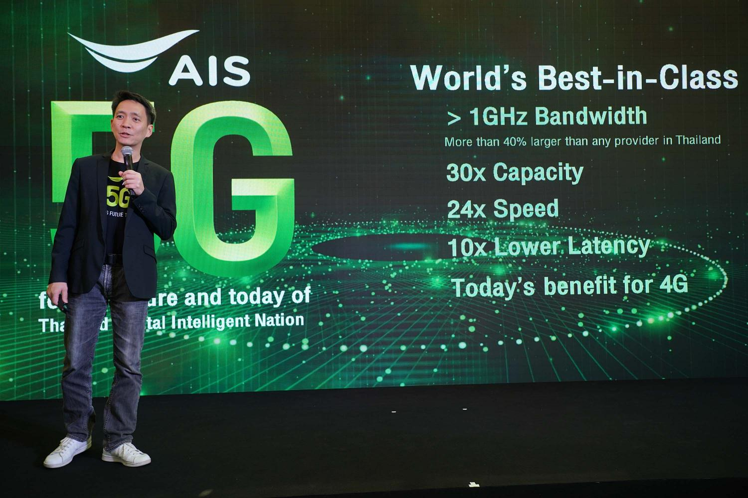 Mr Pratthana says AIS intends to invest in the full spectrum of the 5G block on all frequency ranges.
