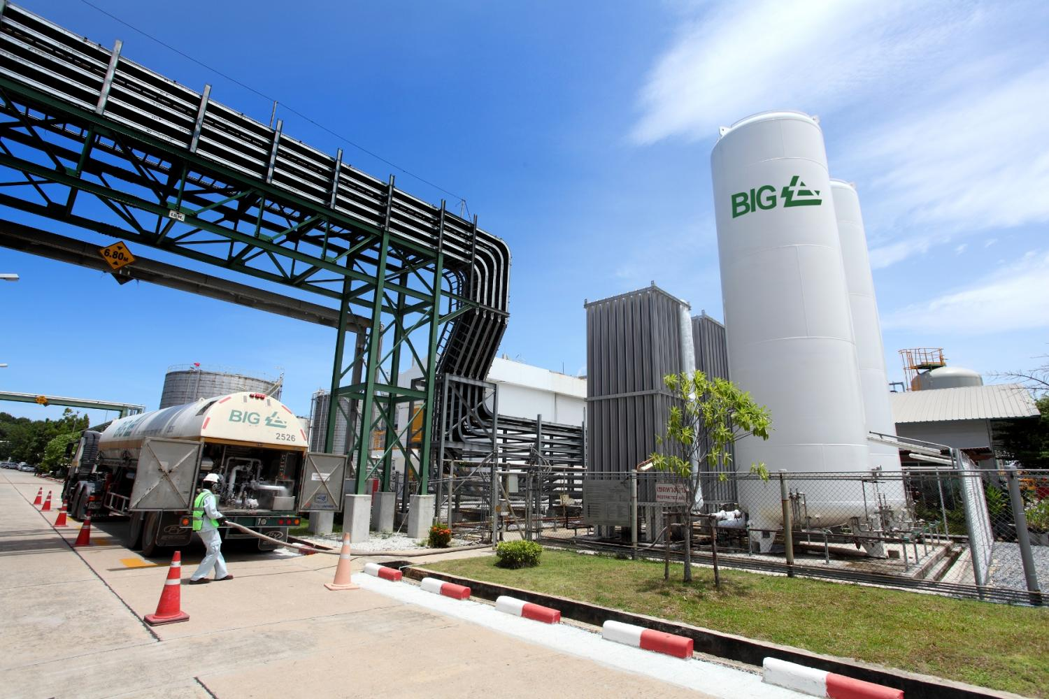 A gas plant for Bangkok Industrial Gas in Rayong. The company has a plan to reuse waste water.