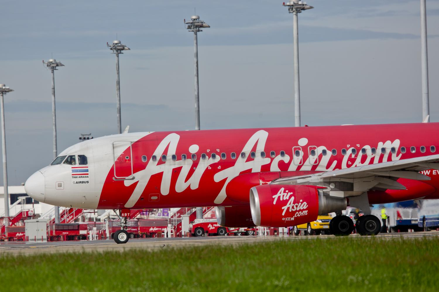 An A320 aircraft of AirAsia is seen at Don Mueang airport, the hub of the airline.(Photo by Krit Phromsakla Na Sakolnakorn)