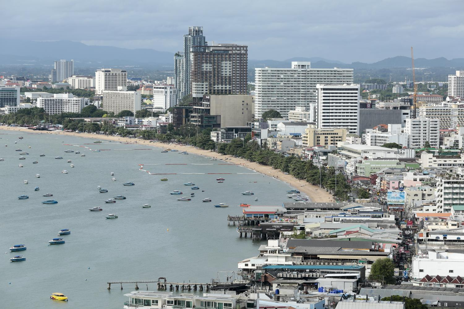 According to Colliers research on the Pattaya condo market, unsold supply exceeded 25,000 units at the end of 2019, up from 12,800 units in 2018. (Photo by Patipat Janthong)