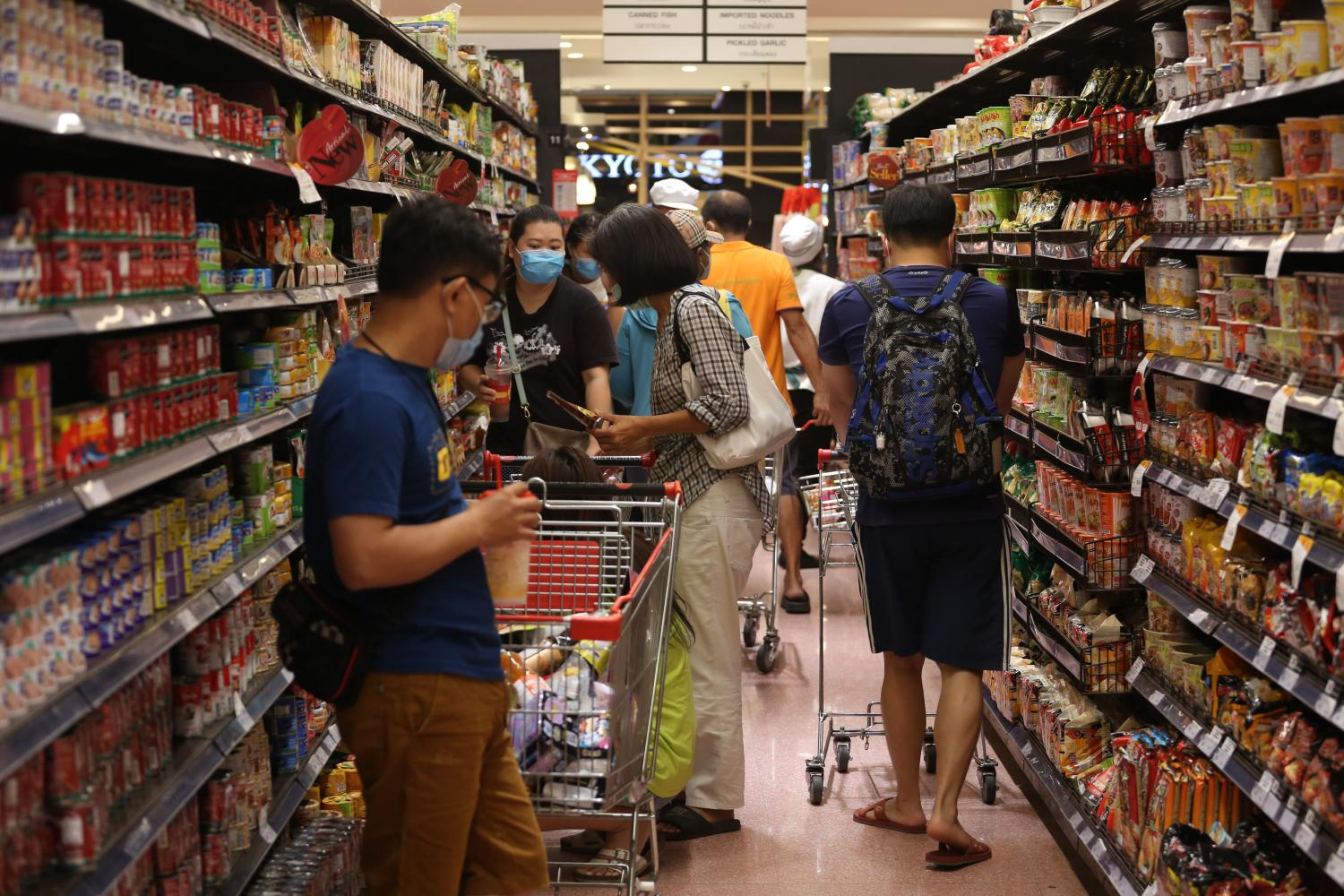 Seven war rooms will monitor product and service items, including processed food, ready-to-eat food, beverages and medical supplies.(Photo by Varuth Hirunyatheb)