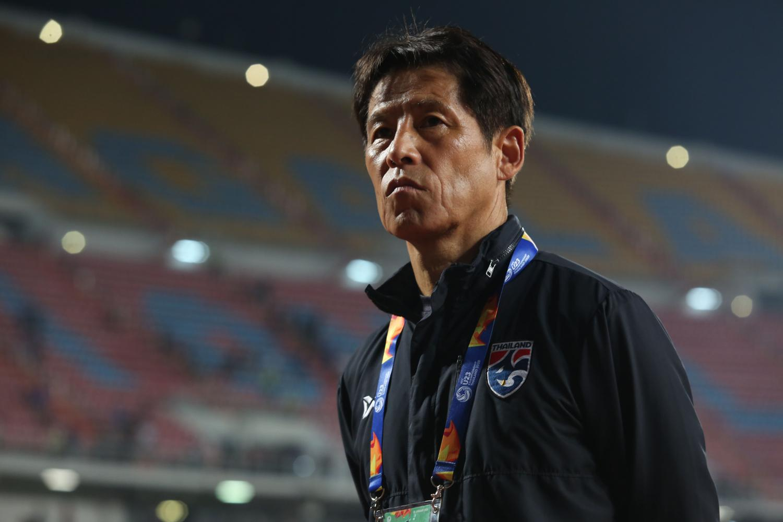 Thailand coach Akira Nishino during a match last year.(Photo by Varuth Hirunyatheb)