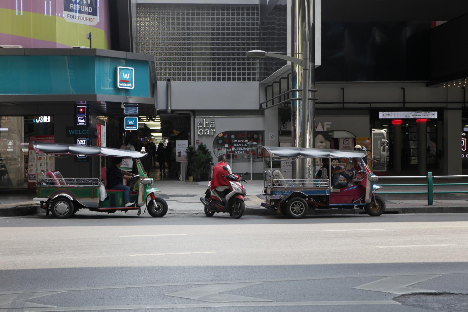 Siam Square in Bangkok is nearly empty as the Thai economy's 2020 prospects grow bleaker.