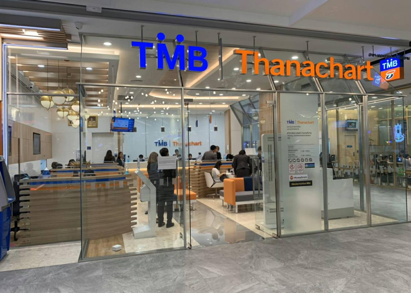 Ten branches of TMB-Thanachart Bank were open by the end of March.