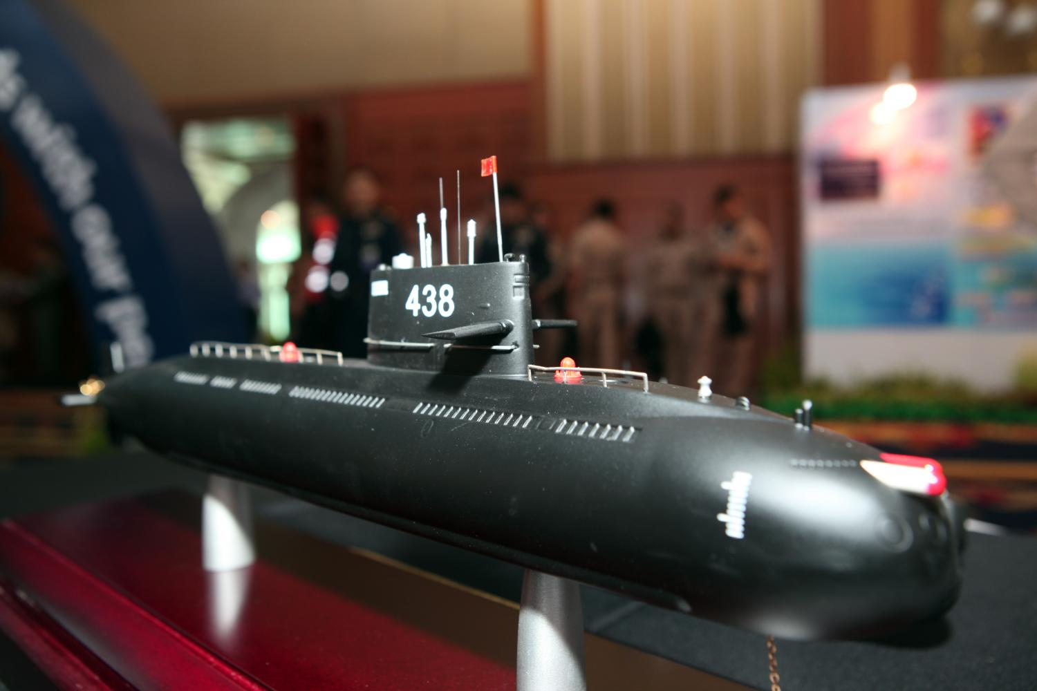 'UNFUNDWORTHY': A model of a Yuan Class S26T submarine the navy has agreed to buy from China. The navy has shelved the procurement of two submarines.