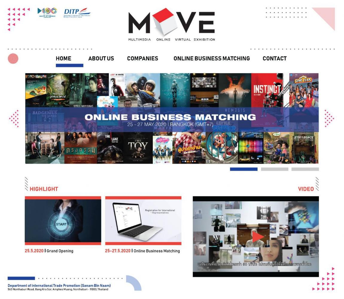 The online trade show and business matching platform Move lets international companies connect with Thai companies.