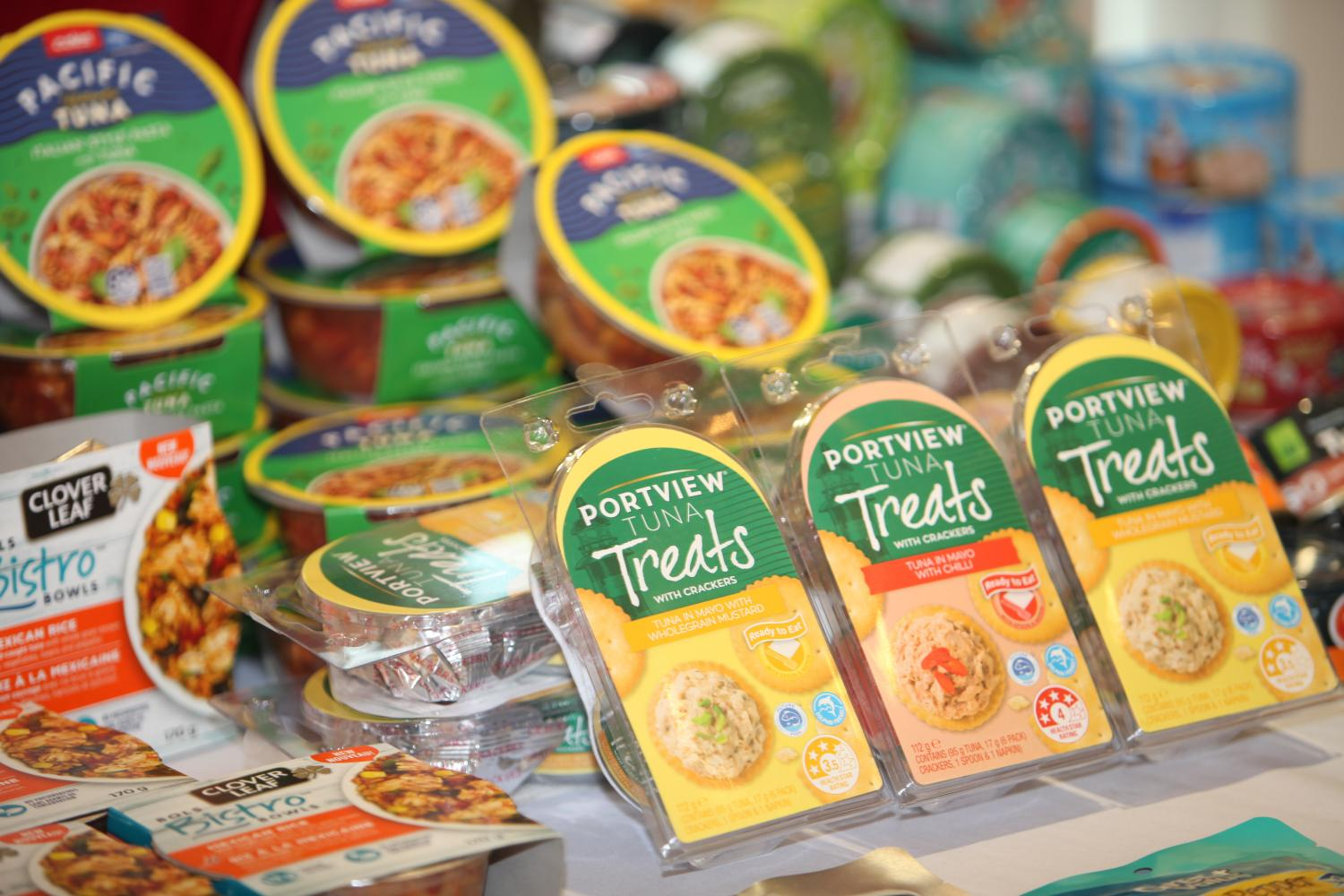 Canned food at Sea Value in Samut Sakhon. Thailand's food exports accounted for 2.5% of world food trade in 2019.Apichart Jinakul