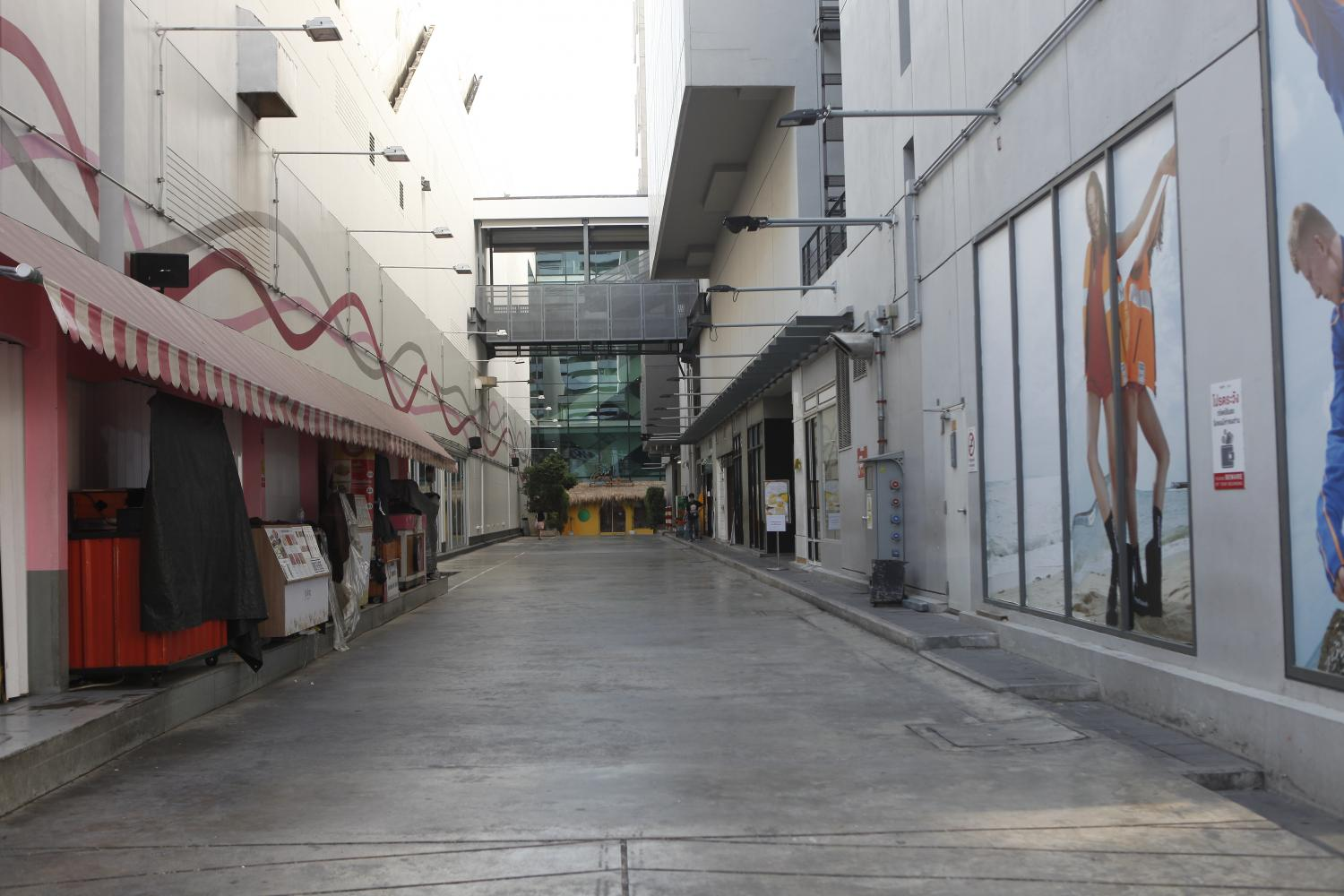 This April 23 photo shows an empty Siam Square with the pandemic having shut down the economy.Nutthawat Wicheanbut