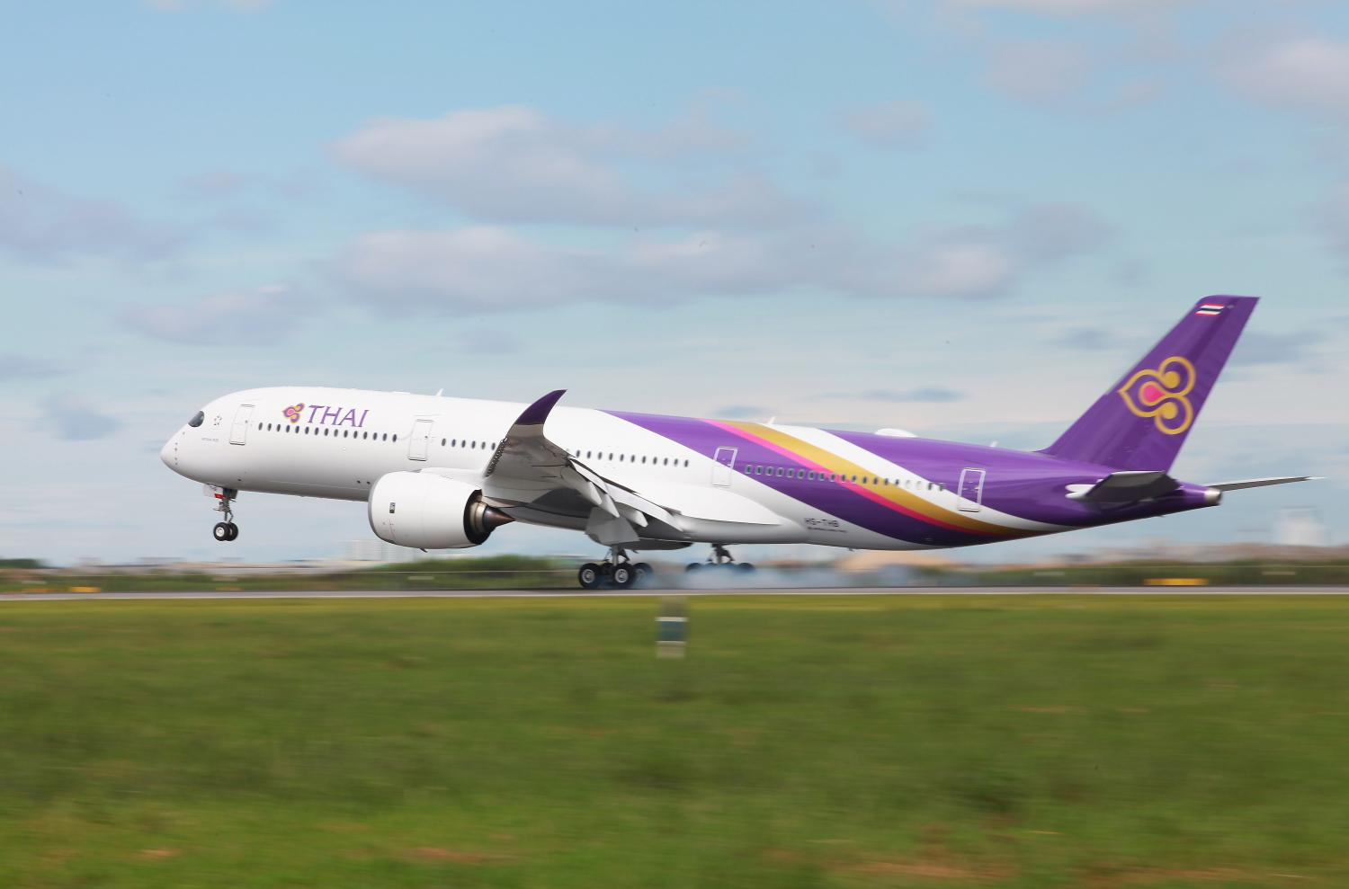A THAI Airbus A350 jet. The flag carrier has been the pride of Thailand for 60 years. (Photo by Somchai Poomlard)