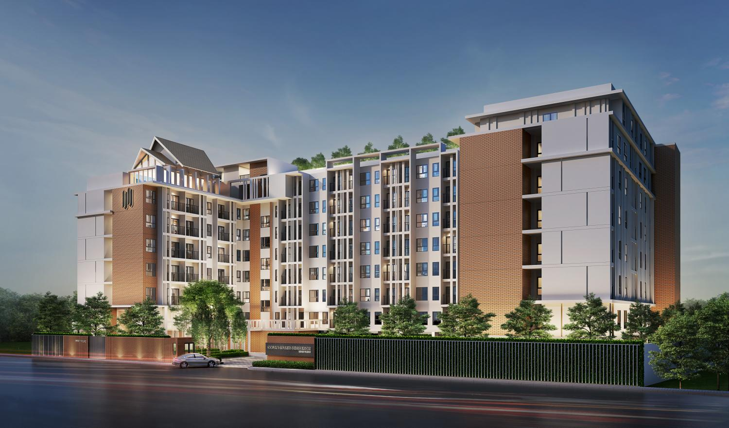 An artist's rendition of Ocean Grand Residence Mittraphap-Khon Kaen, a condo project with 236 units worth 400 million baht.