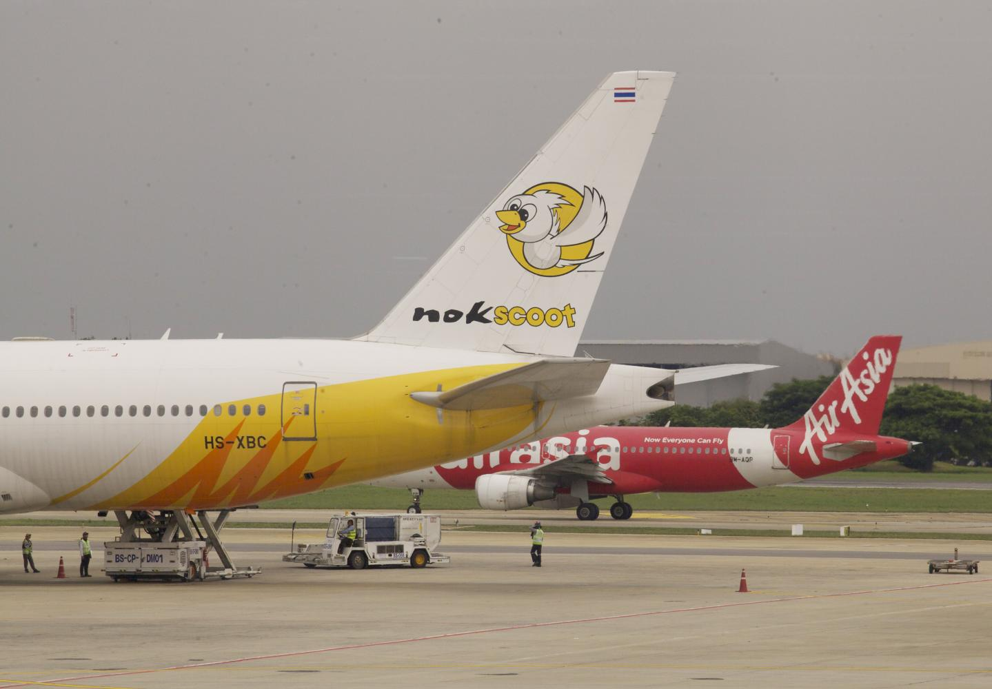 A NokScoot aircraft at Don Mueang airport. Three jets will be returned to Singapore.APICHIT JINAKUL