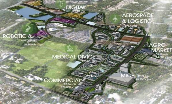 The IEAT's Smart Park industrial estate is located in the Eastern Economic Corridor.