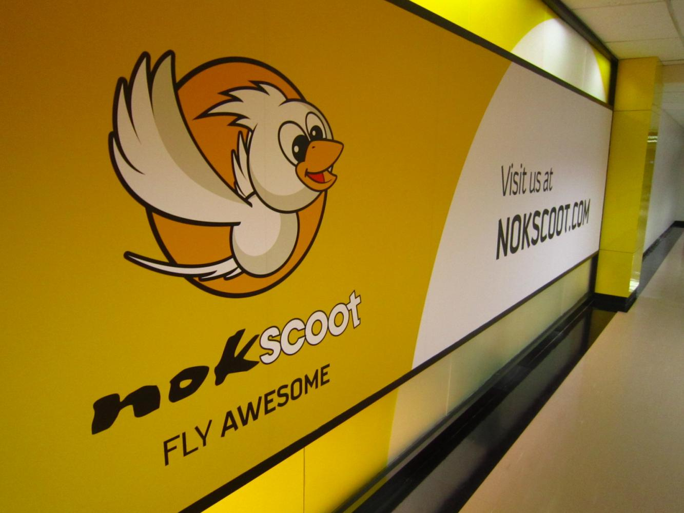 NokScoot's office at Don Mueang airport. The regional low-cost carrier announced its closure last Friday. Boonsong Kositchotethana