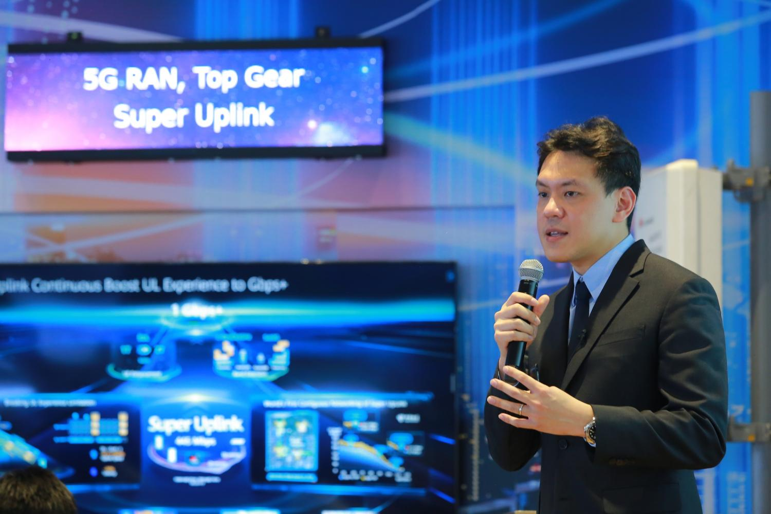 Woragarn Likhitdechasakdi, deputy chief technology officer of the carrier network of Huawei Technologies Thailand unveils 5G trends in Thailand at '5G Ecosystem and the Future of Thailand' seminar. *No photo credit*