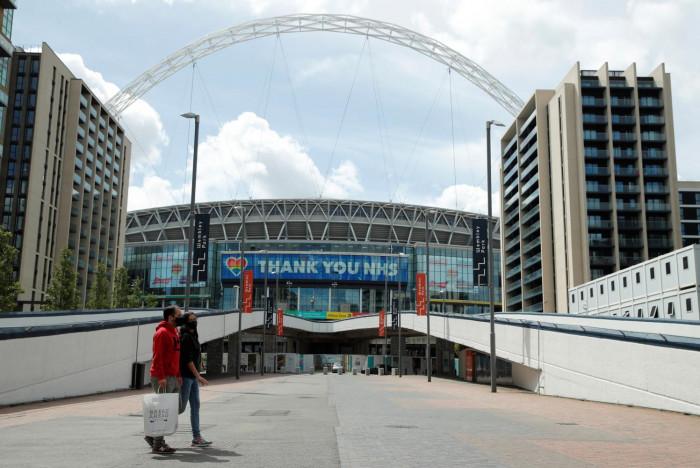 Northampton cruise at empty Wembley