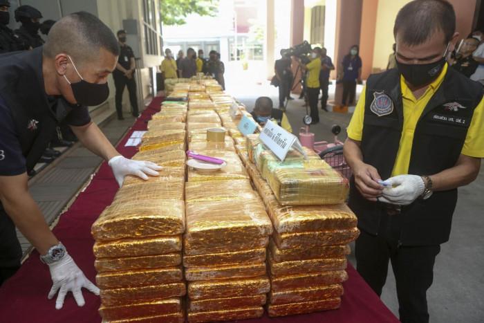 Three major police operations net tonnes of 'ya ba', marijuana
