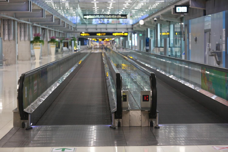 Suvarnabhumi airport continues to remain deserted during the coronavirus outbreak.Somchai Poomlard