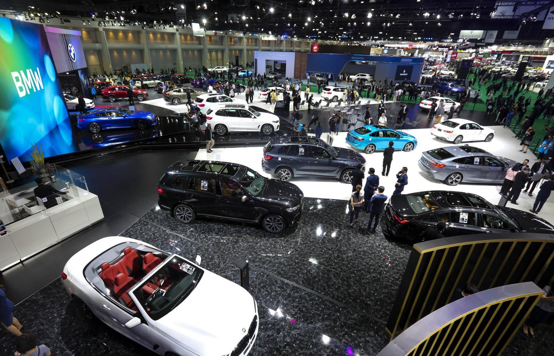Cars on display at the 41st Bangkok International Motor Show at Impact Muang Thong Thani.(Photo by Pattarapong Chatpattarasill)