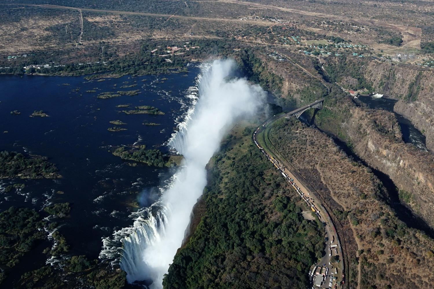 Zambia took on debt to revamp a railway to Victoria Falls.AFP