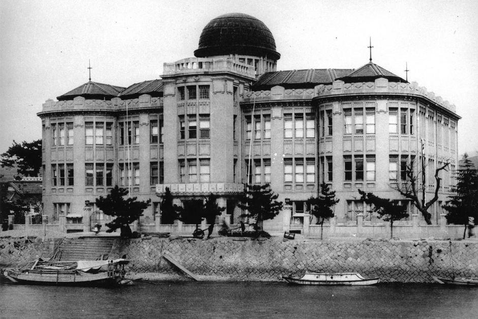 A majestic building in the city of Hiroshima, before and after a massive bomb that devastated the city in 1945. It is later known as the Atomic Bomb Dome or Genbaku Dome.Pictures courtesy of the International Committee of the Red Cross (ICRC)