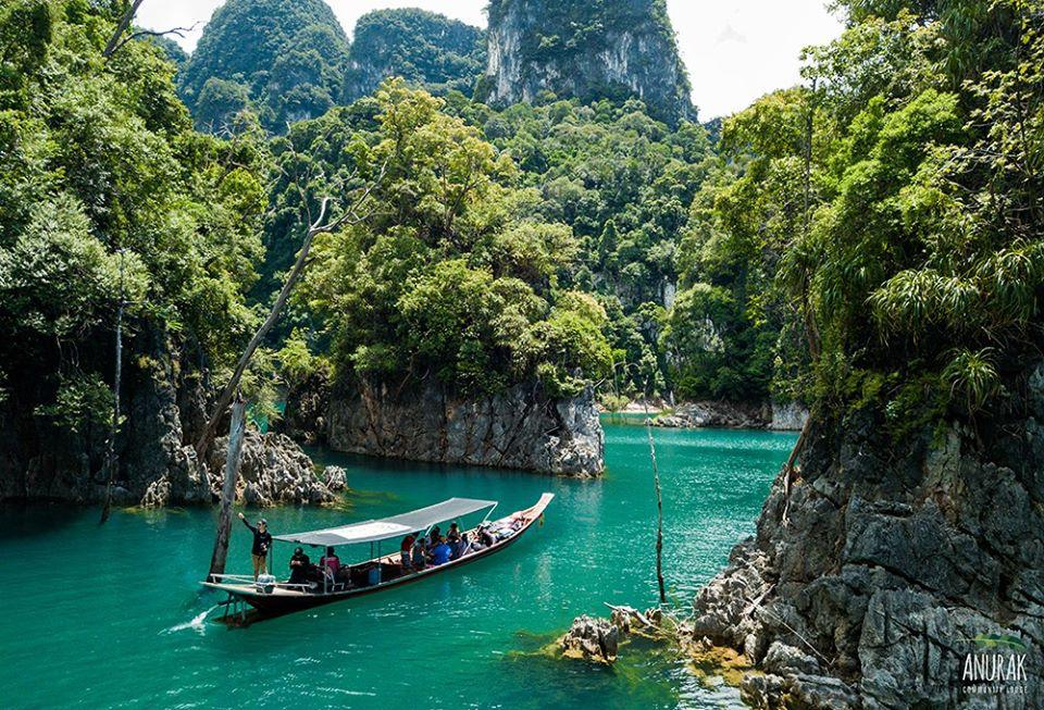 Cheow Lan Lake in Khao Sok National Park in Surat Thani is one of the more popular tourist attractions in southern Thailand. Photo Courtesy of Anurak Lodge