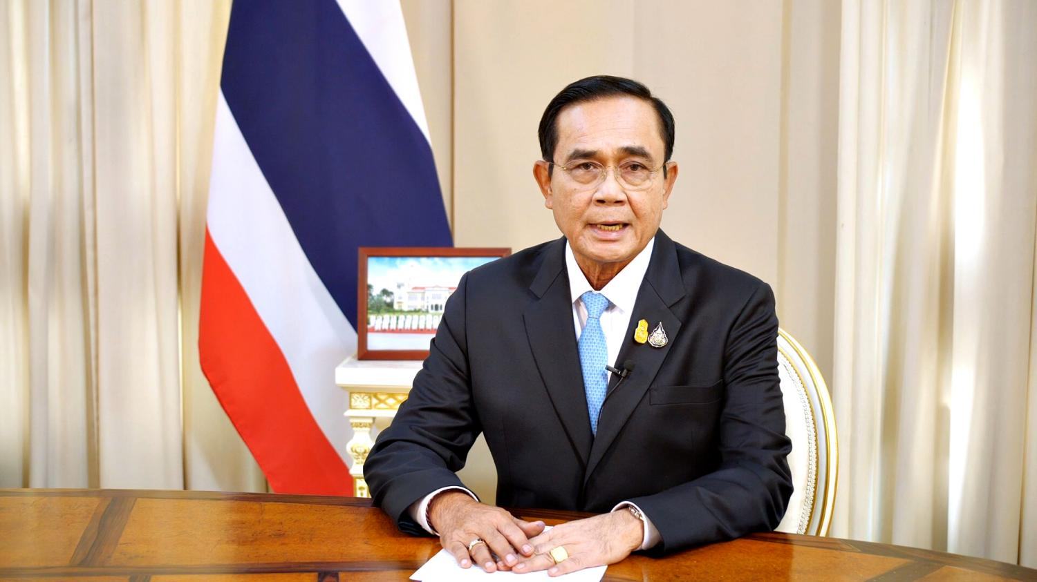 Prime Minister Prayut Chan-o-cha warns in a TV broadcast on Thursday that Saturday's anti-government rally could increase the risk of a second Covid-19 wave. Government House