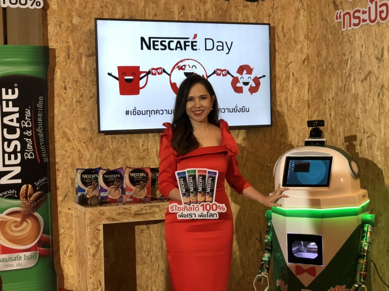 Ms Naritta says Nestle will make all packaging 100% recyclable in 2022. Pitsinee Jitpleecheep