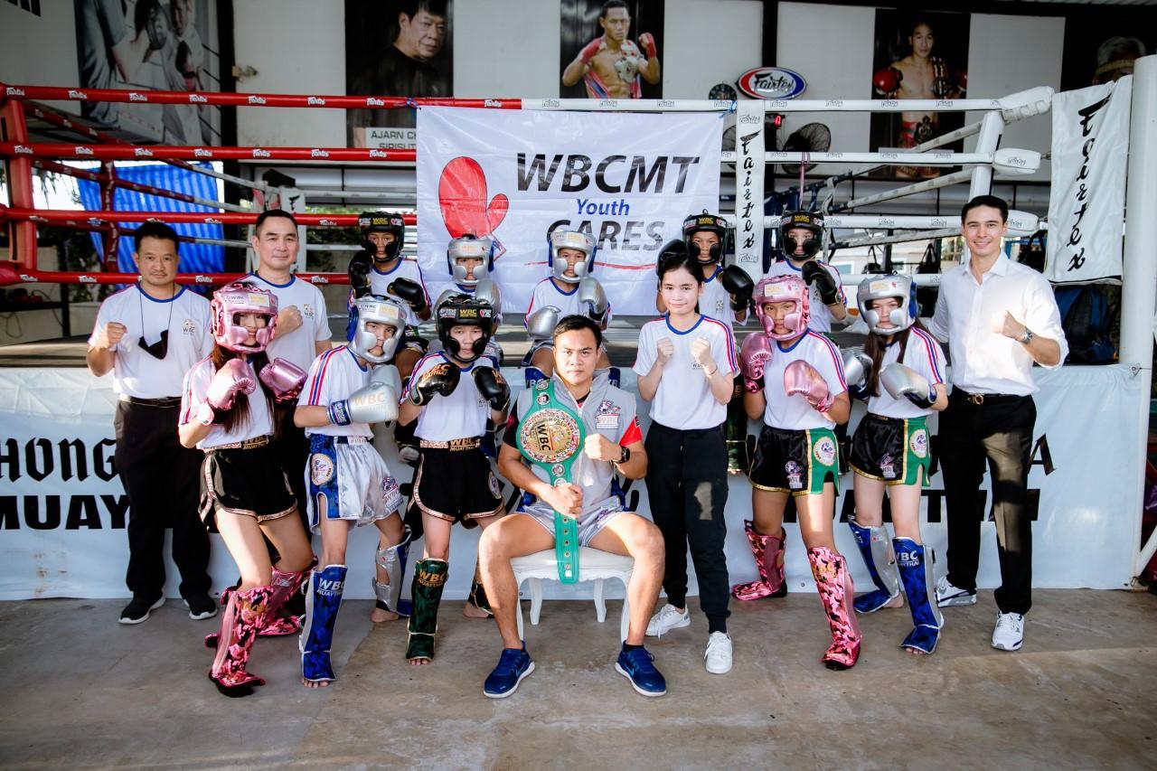 Participants at a Muay Thai workshop at Bangkok's Khongsitta gym.