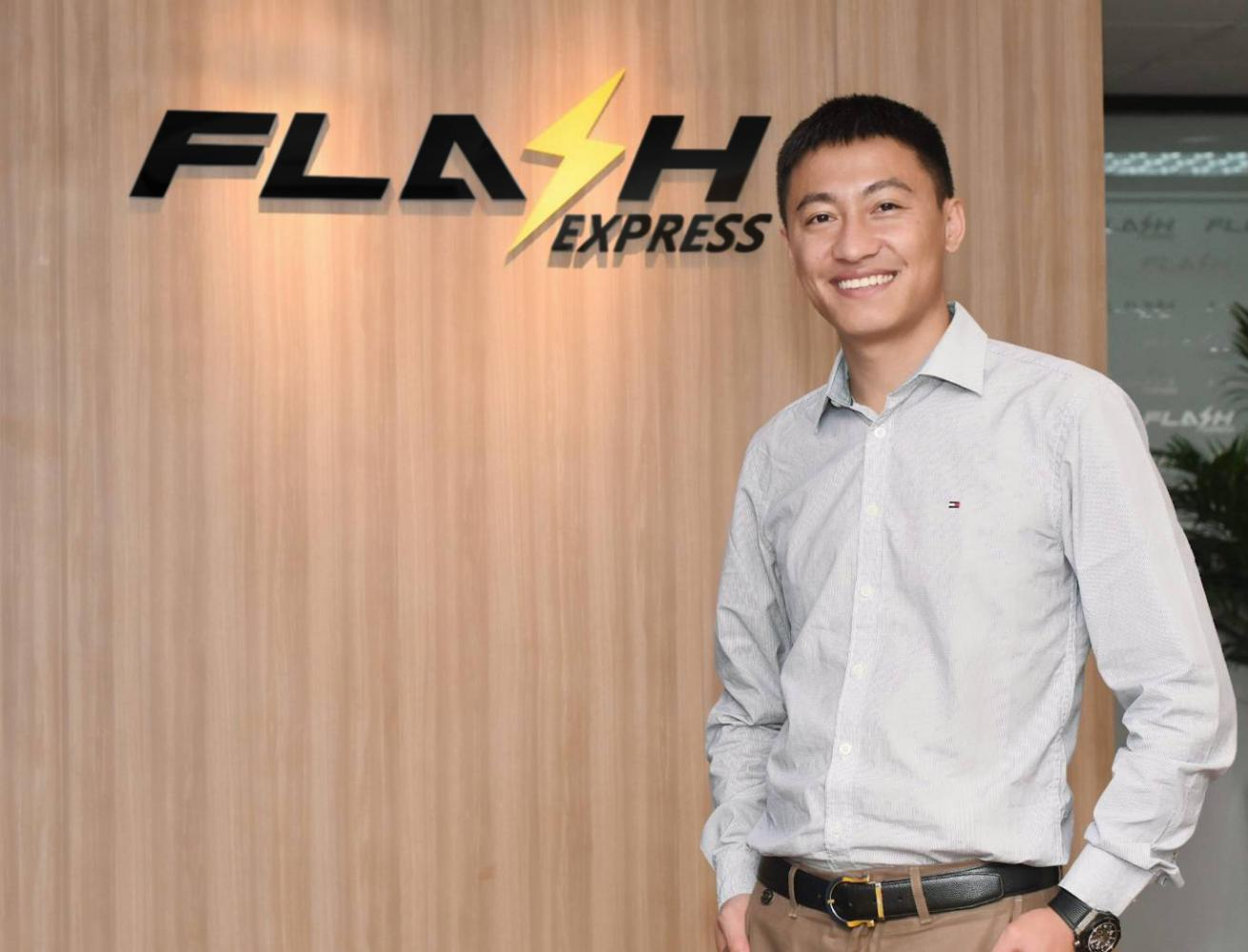 Komsan Lee, CEO of Flash Express says the pandemic and the rise in e-commerce has increased demand for delivery services.