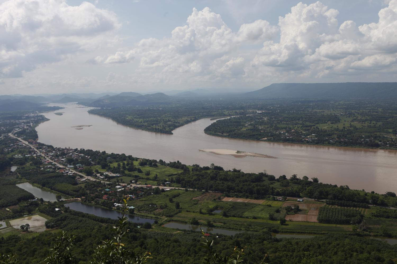 Sandbars can be seen on the Mekong River in tambon Pha Taem in Nong Khai, across from Laos.Nutthawat Wicheanbut