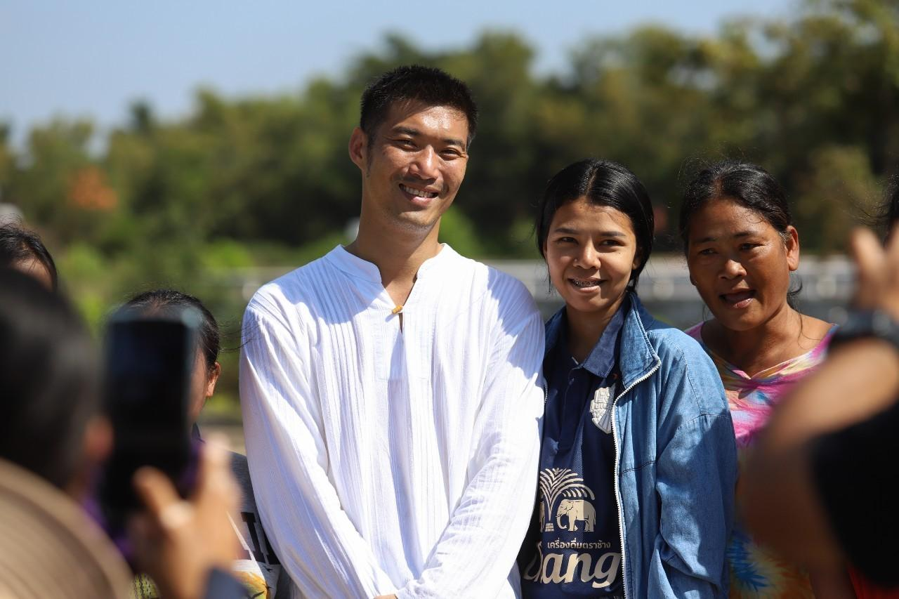 Rising from the ashes: On Friday, Thanathorn Juangroongruangkit visited Surin to campaign ahead of the local elections next month.