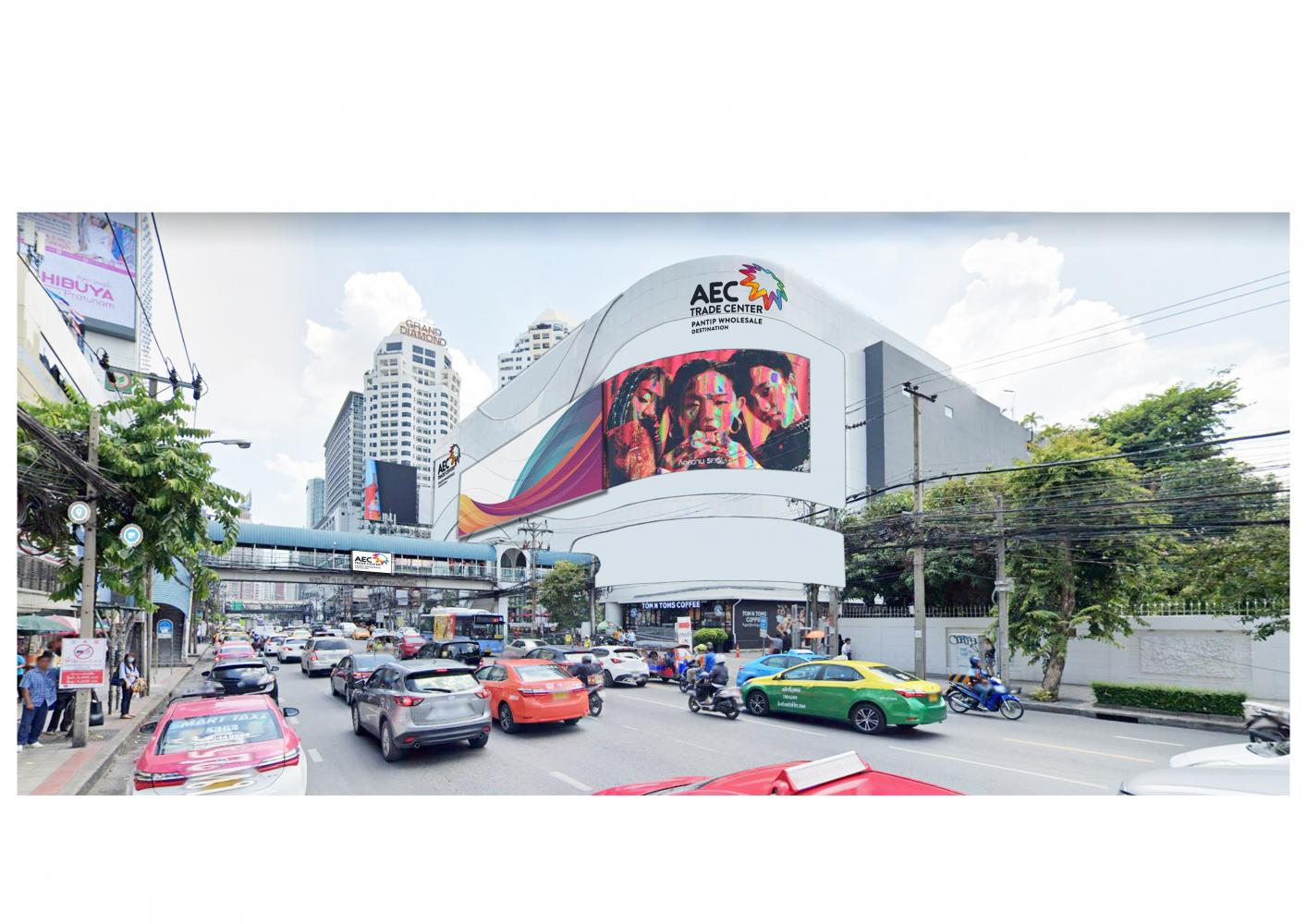 An artist's rendition of the AEC Trade Centre-Pantip Wholesale Destination in Bangkok's Pratunam area.
